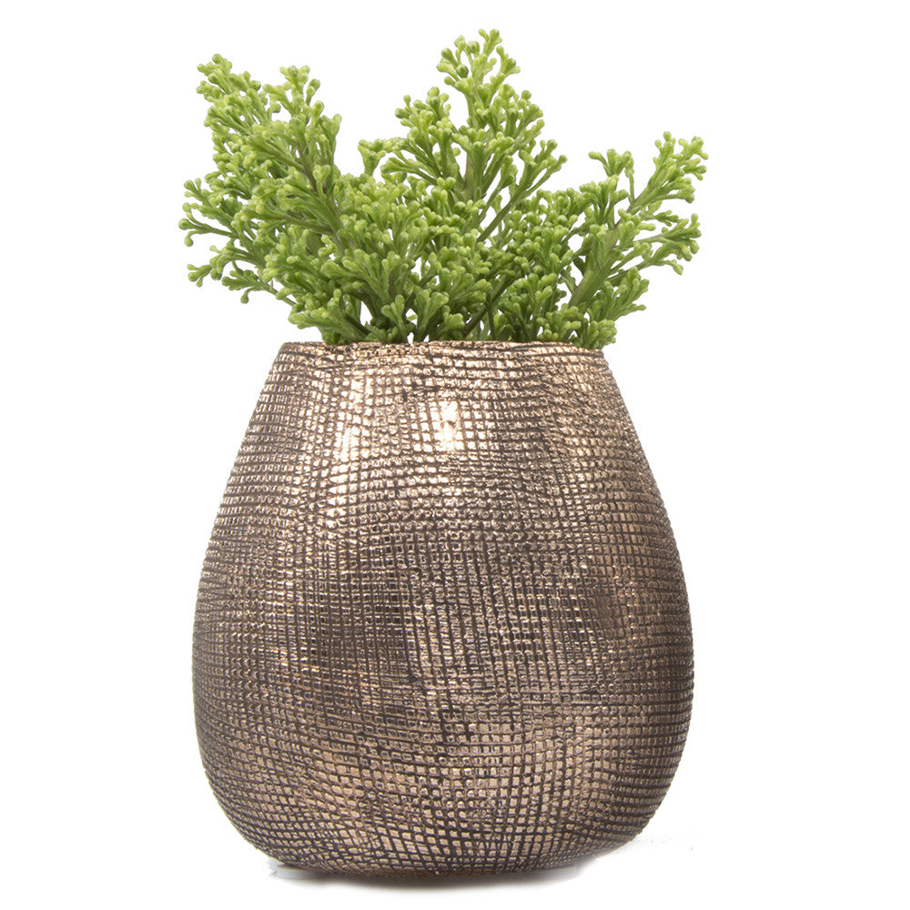 Mesh Pot - Antique Rose Gold