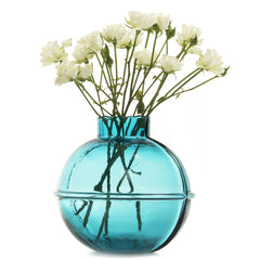 Chive Nantucket - Teal, Large Heavy Glass Nautical Statement Flower Vase