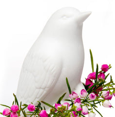 Porcelain Bird - White