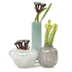 Chive, Nova - Parla White low Heavy Glass Vase
