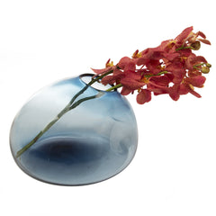 Chive Organic - Blue, Large Glass organic inspired Flower Vase