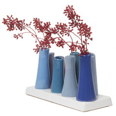Chive,  Pooley 2 - Cobalt, Ceramic Flower Vase