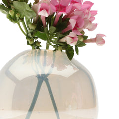 Chive Pearl - Large Ice modern glass event wedding heavy vase, close up
