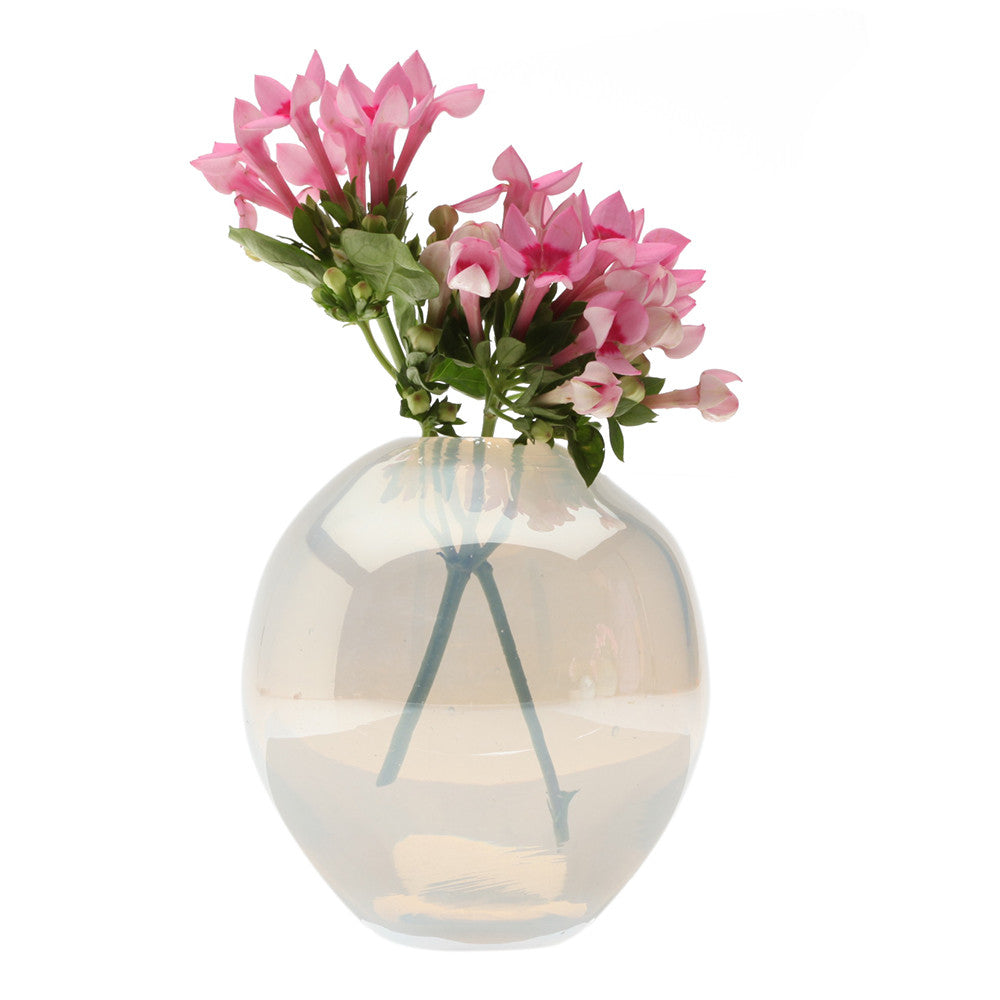 Chive Pearl - Large Ice modern glass event wedding heavy vase