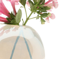 Chive Pearl - Small Ice modern glass event wedding heavy vase, close up