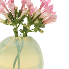 Chive Pearl - Small Mint modern glass event wedding heavy vase, close up