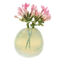 Chive Pearl - Small Mint modern glass event wedding heavy vase