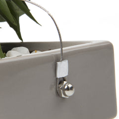 Chive, Ragna - Ceramic Hanging Planter Grey side close-up