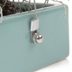 Chive, Ragna - Ceramic Hanging Planter Seafoam side close-up