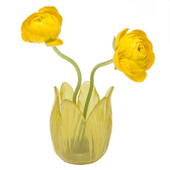 Chive Retina - Yellow, Colored Glass Tellsia Flower Vase Sale