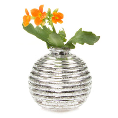 Smasak - Silver, Ceramic Decorative Event Bud Vase
