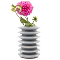 Chive, Spiro - Light Grey Ceramic Flower Vase