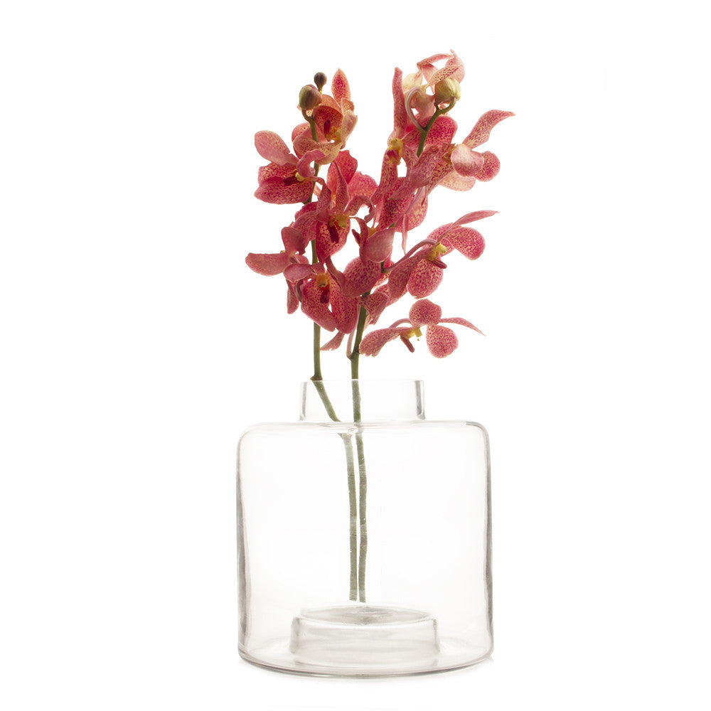 Chive Stack - Clear, Large Glass Stackable Flower Vase