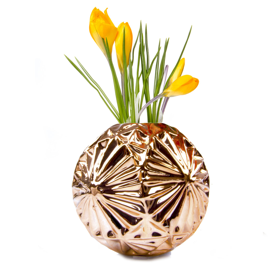 Chive, Starball - Rose Gold ceramic decorative flower vase