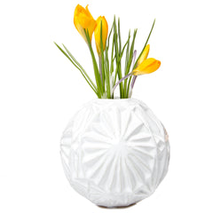Chive, Starball - White ceramic decorative flower vase