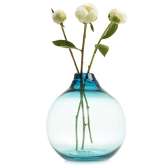 Chive Supreme Corona - Teal Large Heavy Glass Modern Vase