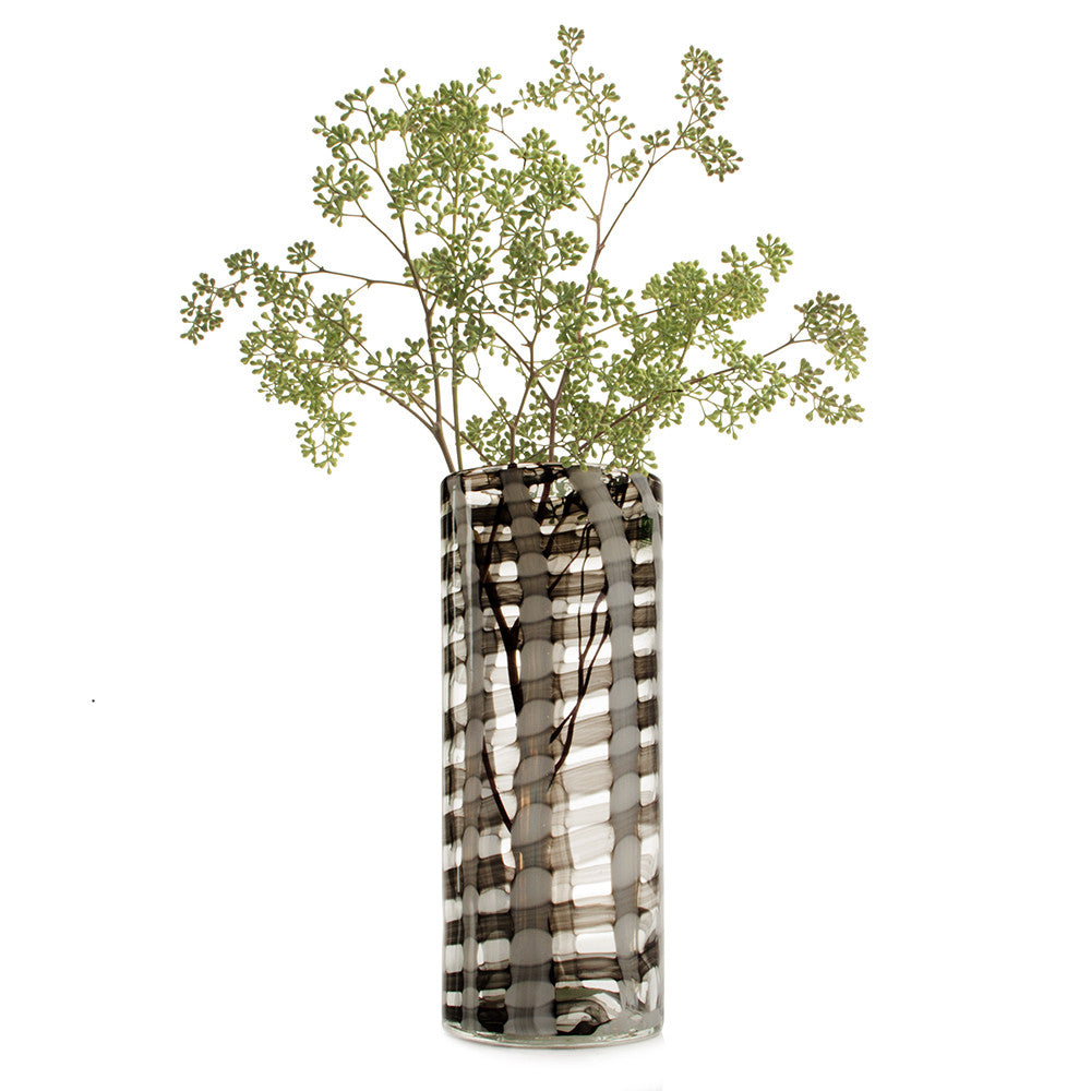 Chive Svart - Black, Large Heavy Hand Blown Flower Vase