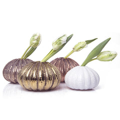 Chive, Urchin - Large Antique Chrome, Antique Gold, Antique Rose Gold, and Small White