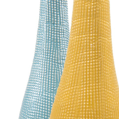 Chive, Bowler Bottle - Yellow Tall textured ceramic vase