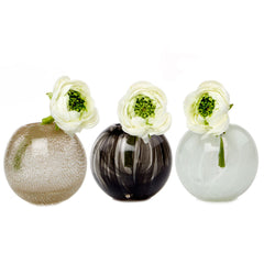 Ligne - Sphere Copper, Black and White, Heavy Glass Event Vase