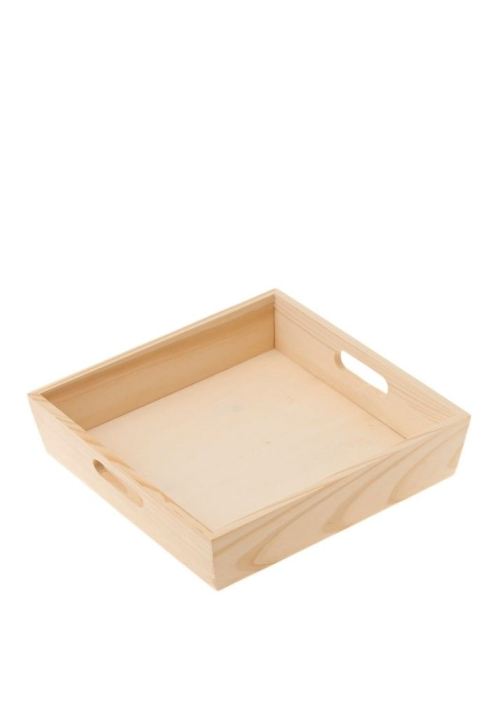 Create your own hamper - Square wooden tray