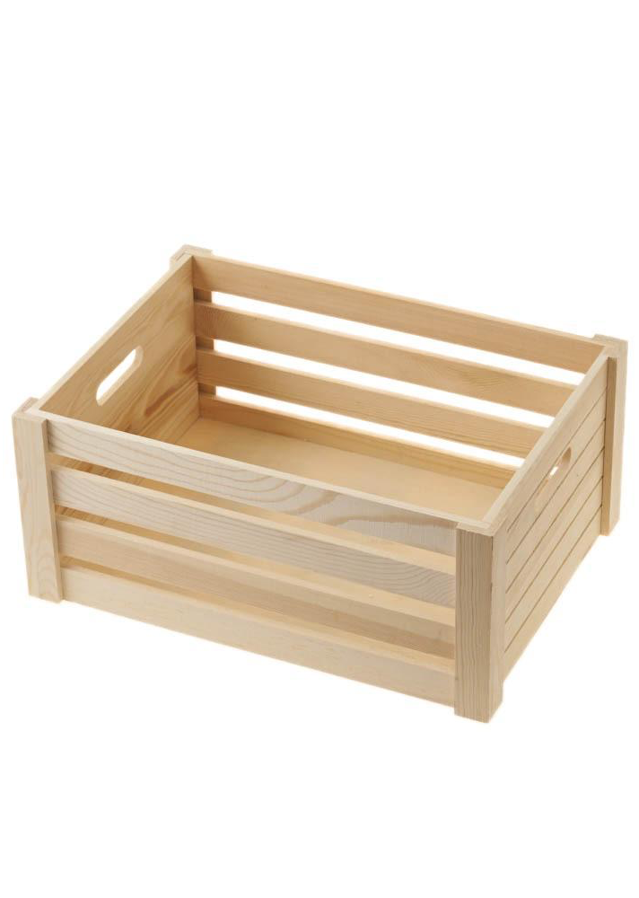 Create your own hamper - Medium wooden crate