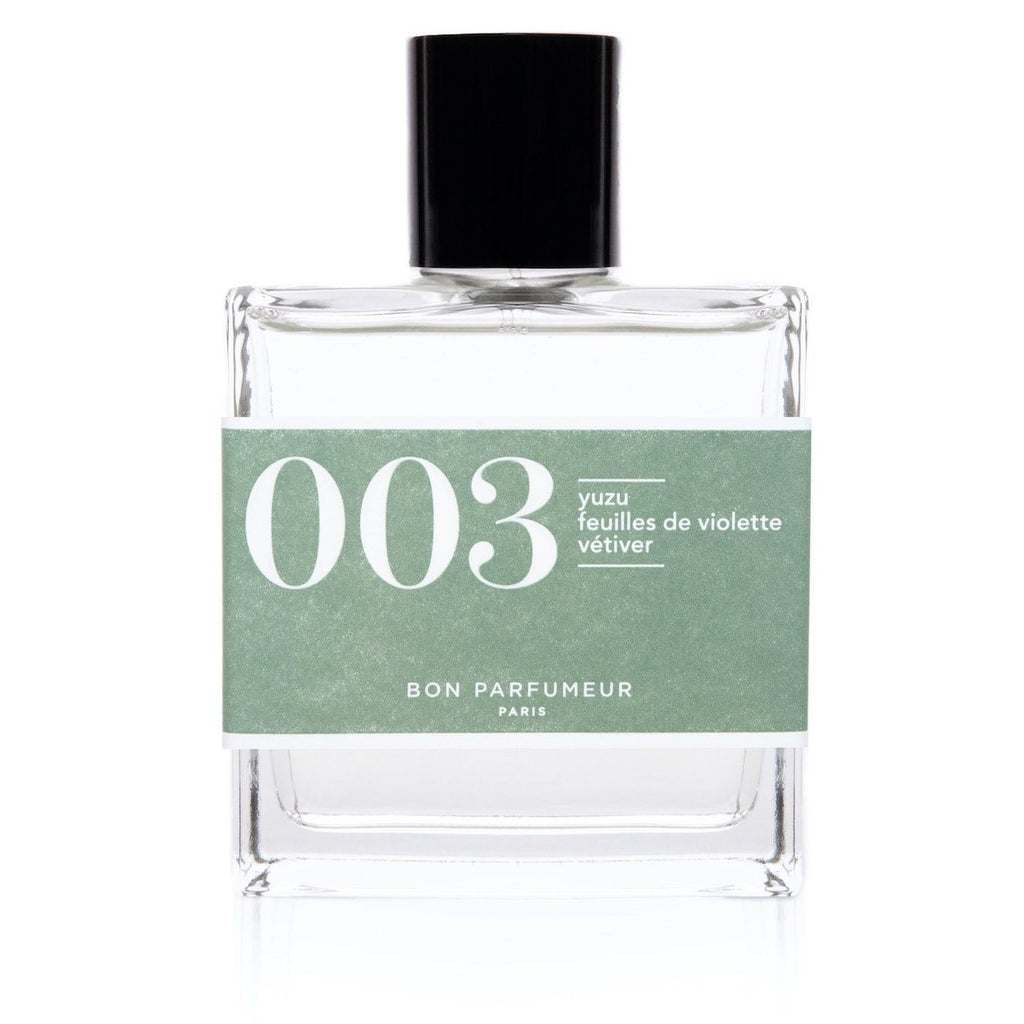 Eau de parfum 003: yuzu, violet leaves and vetiver
