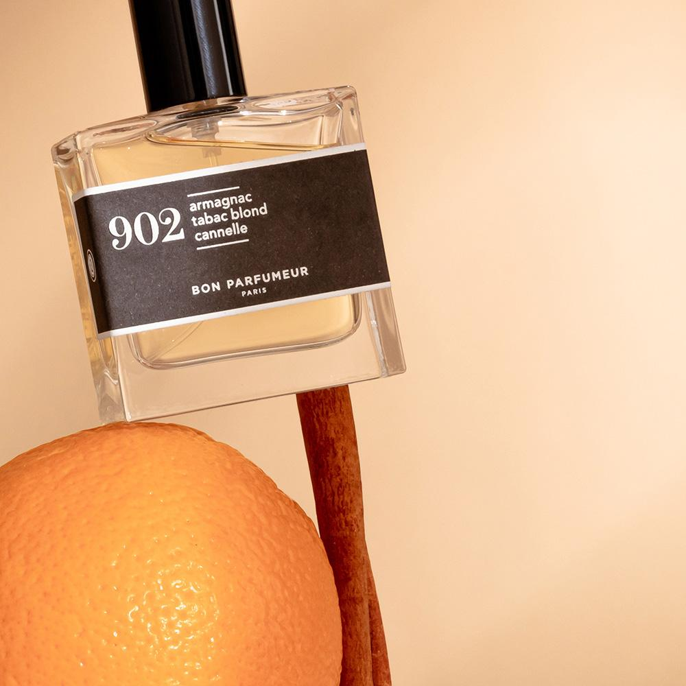 Eau de parfum 902 : armagnac, blond tobacco and cinnamon