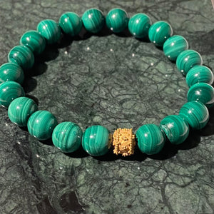 Green Malachite Round Bracelet