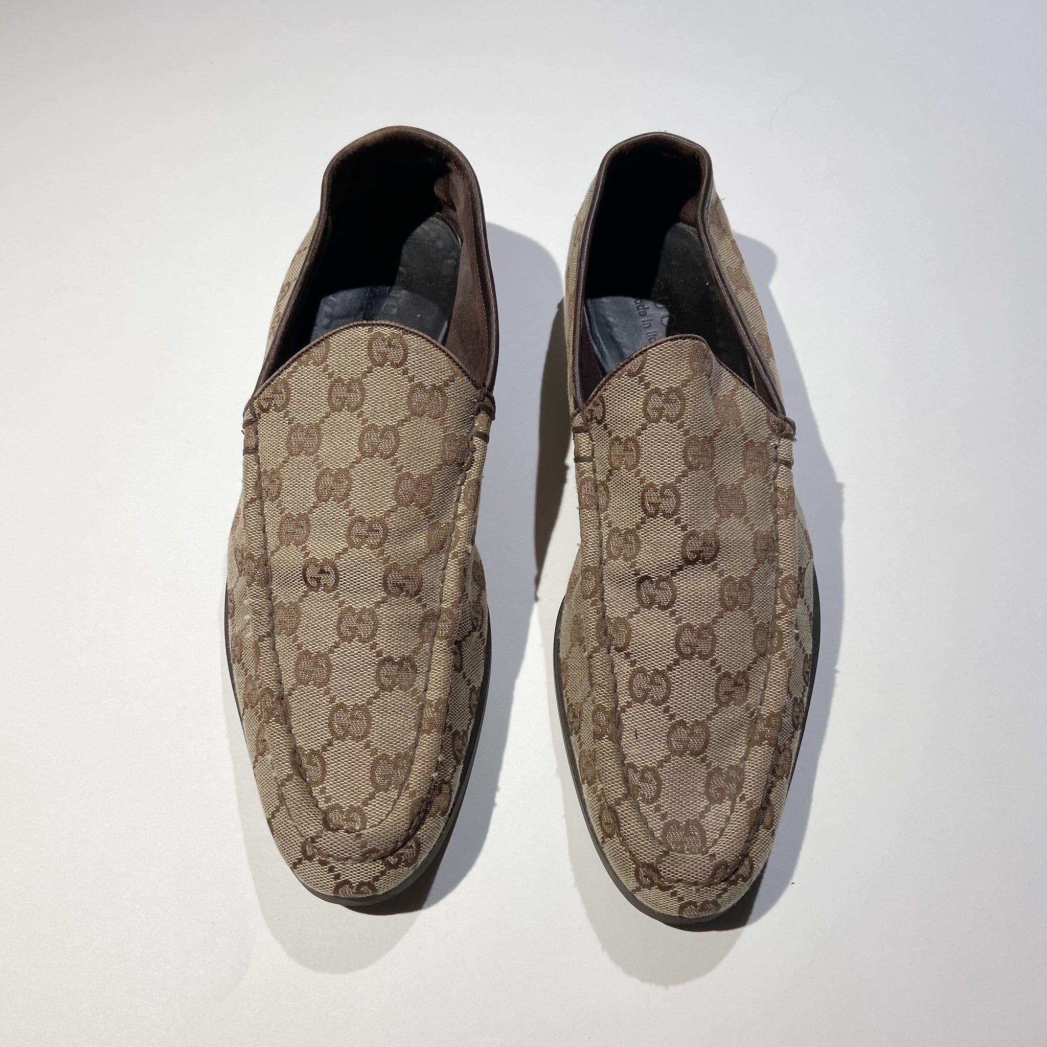 Gucci Monogram Loafers