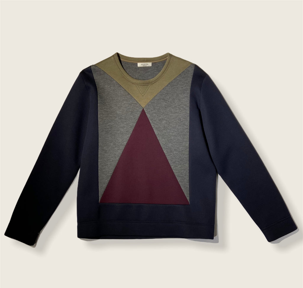 Valentino Color Blocking Scuba Sweater