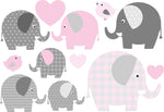Load image into Gallery viewer, Waterproof lunch box stickers -Pink elephants