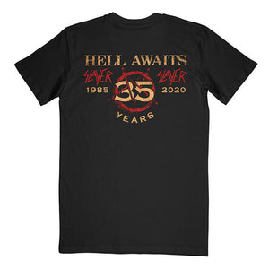 Hell Awaits 35th Anniversary tee