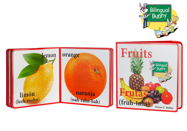 Bilingual Bunny Fruits Book