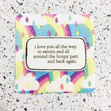 rainbow quote gift tag by hummingpea from have you met charlie a unique australian gift shop