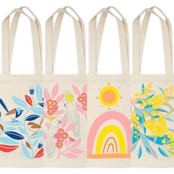 Earth Greetings tote bags - Various from have you met charlie a gift shop with Australian unique handmade gifts in Adelaide South Australia
