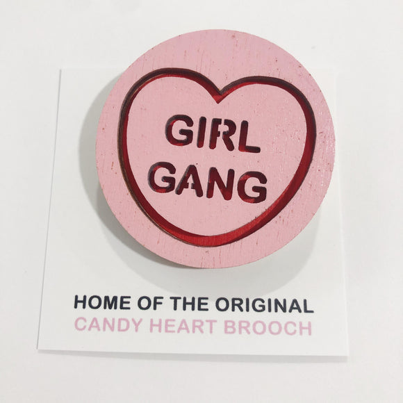 For The Love Of Vintage Brooch - Girl Gang