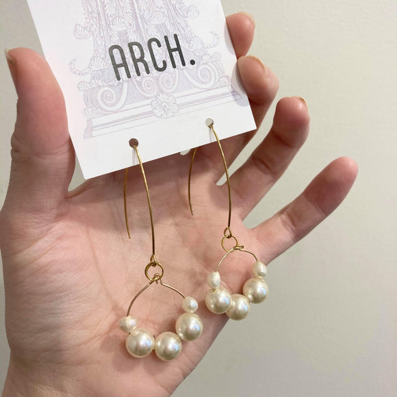 Arch Earrings - Pearl Hoop from have you met charlie a gift shop with Australian unique handmade gifts in Adelaide South Australia