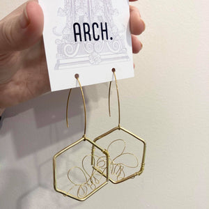 Arch Earrings - Honey from have you met charlie a gift shop with Australian unique handmade gifts in Adelaide South Australia