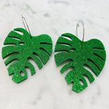 Mintcloud Earrings- Monstera Leaf Dangles- from Have You Met Charlie?, a gift shop with Australian unique handmade gifts in Adelaide, South Australia