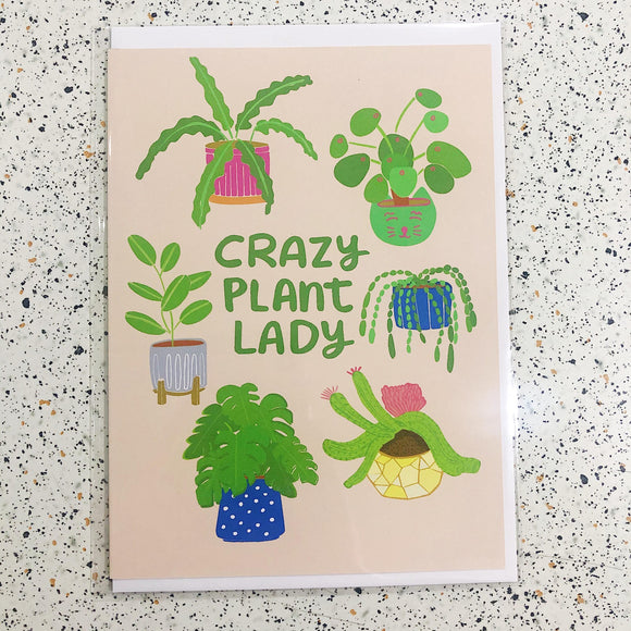 miss minzy crazy plant lady card have you met charlie adelaide australia
