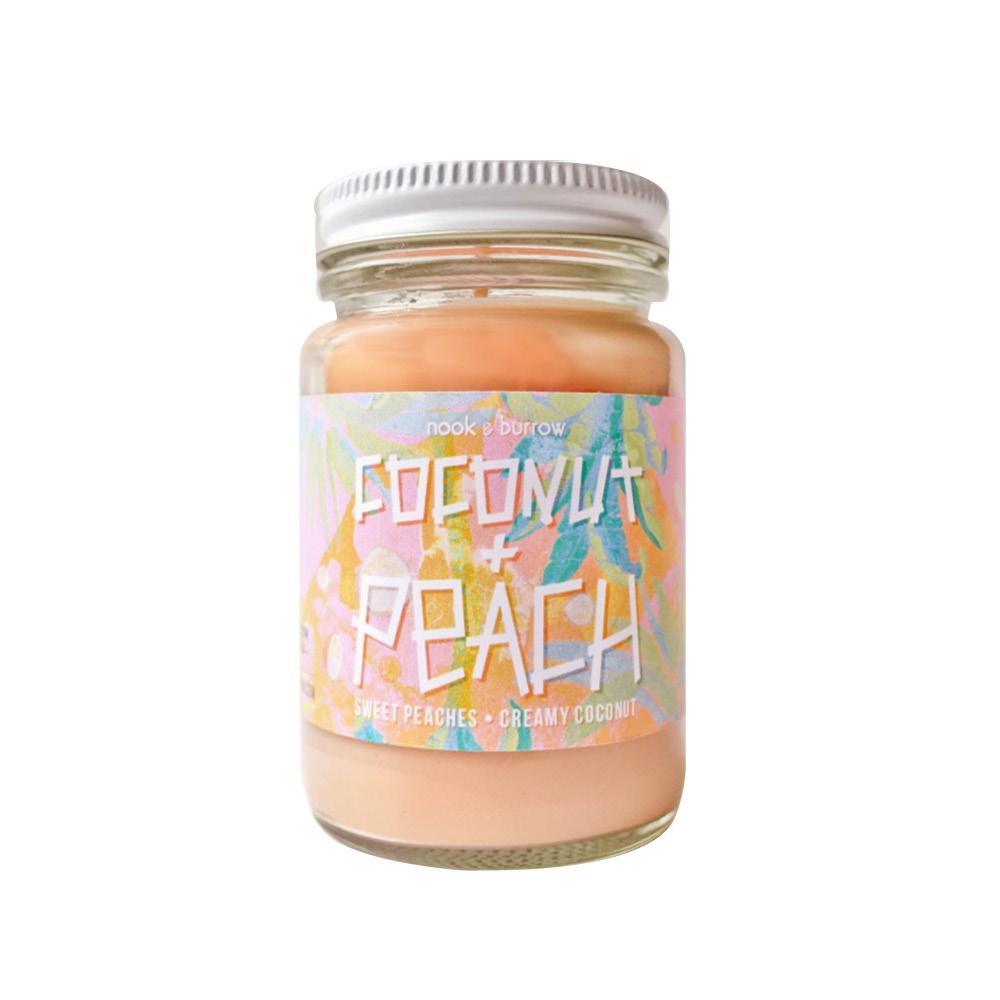 Nook & Burrow Candle- Coconut & Peach