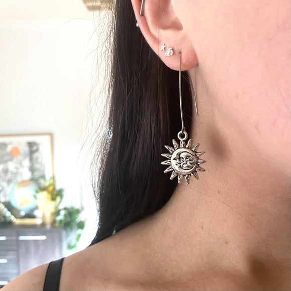 Arch Earrings - Zodiac Sun from have you met charlie a gift shop with Australian unique handmade gifts in Adelaide South Australia