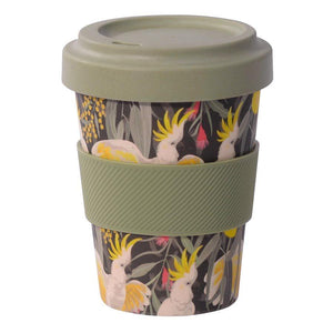 bamboo reusable cup in australian bird designs from adelaide gift shop have you met charlie in south australia