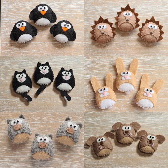 World of Kawaii Gifts - Animal Brooches Various from have you met charlie a gift shop in Adelaide south Australian with unique handmade gifts