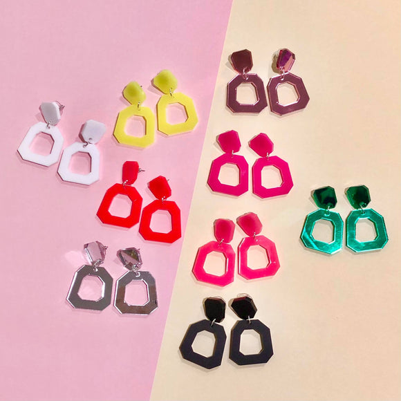 Mintcloud Dangle - Square Hoops