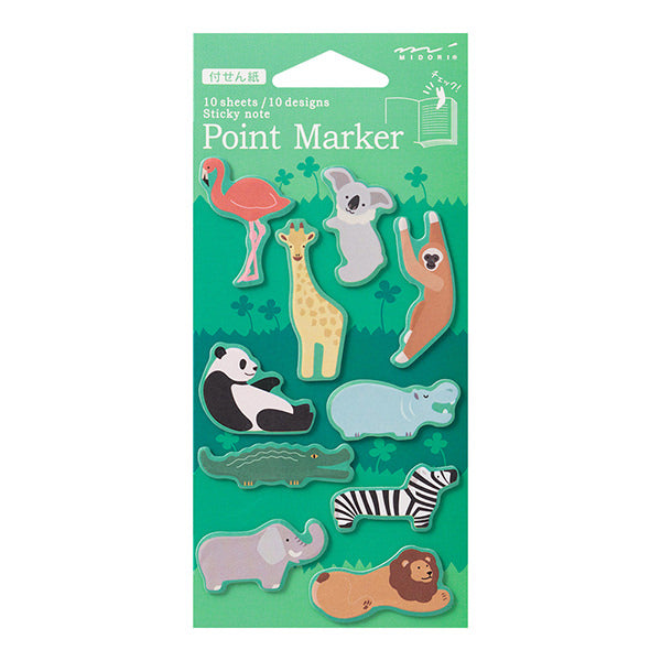 Point Marker Sticky Notes - Zoo