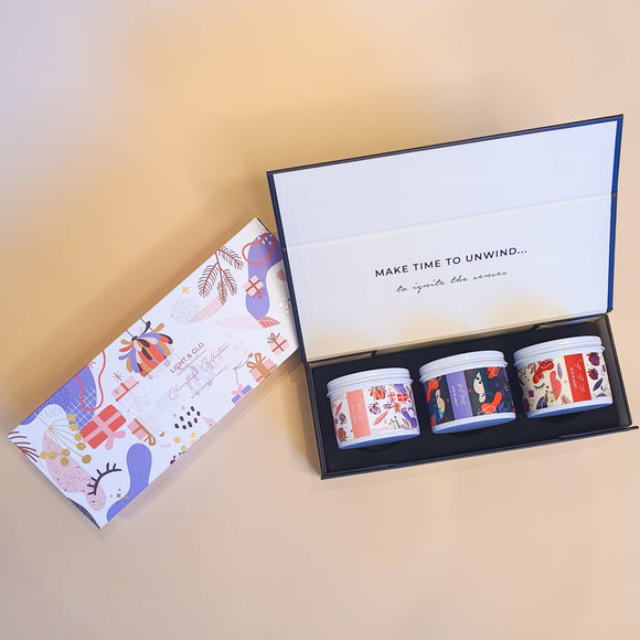 Light & Glo Designs - Trio Gift Box - Christmas Trio from have you met charlie a gift shop in Adelaide south Australian with unique handmade gifts