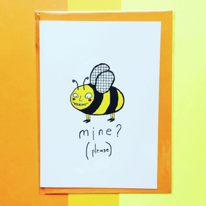 Orange Forest Greeting Card - Bee Mine