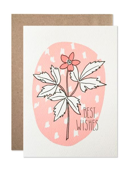 Hartland Brooklyn Card - Best Wishes Floral
